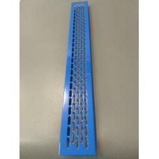 Алюмінієва решітка 480*60мм колір RAL5017